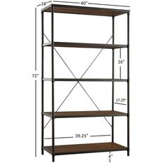 Harrison Industrial Rustic Pipe Frame Shelf Media Tower by iNSPIRE Q Classic