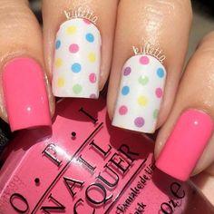 Bright And Trendy Polka Dots To Refresh Your Nails #naildesignsjournal #nails #polkadots