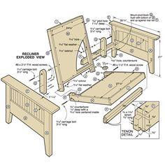 futon chair plans | Futon Chair and Ottoman Woodworking Plan