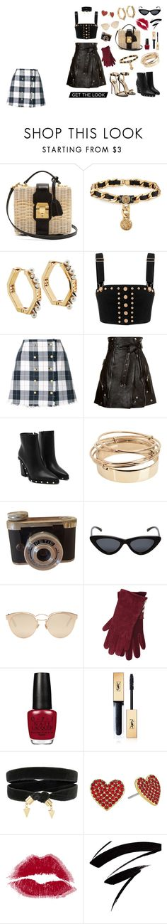 """""""First of the design"""" by limited555 ❤ liked on Polyvore featuring Mark Cross, Maison Mayle, Fendi, Thom Browne, Alexander McQueen, Valentino, Le Specs, Christian Dior, M&Co and Yves Saint Laurent"""