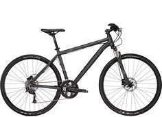 TREK DS Series /    If you're looking for that one perfect go-anywhere bike, Dual Sport is it—equally adept on road or off.    Upgrades from 8.4 DS  Shimano SLX/Deore drivetrain  Remote suspension lockout  Shimano hydraulic disc brakes  Shimano Octalink crank    GREAT FROM MOUNTAIN TO ROAD.