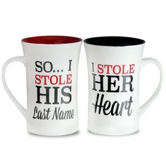 Love Quote Imprinted Mugs