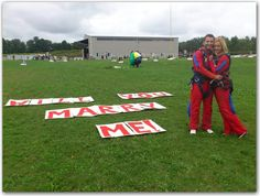 For the adventure seeking, skydiving would be a great way to propose!