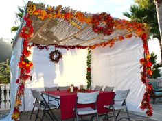 Sukkah at Sunset