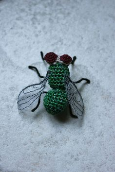 A crocheted bug. NOPE