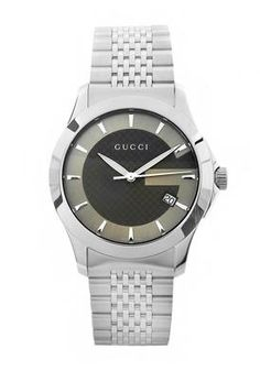 Authentic Men's Gucci Watch ~ Timeless Brown Dial Stainless Steel    Sale: $625