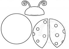Printable Ladybug Cut Out Pattern Easter Templates, Applique Templates, Applique Patterns, Quiet Book Templates, Templates Printable Free, Printables, Diy Projects For Kids, Sewing Projects, Lady Bug