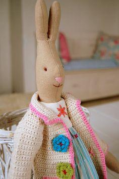 .love the crochet cardigan