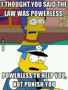 The Simpsons sums up America's law enforcement