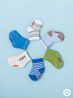 Keep Baby's little toes extra warm with cute Circo socks in a variety of prints, patterns and solid colors.