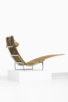 Poul Kjærholm PK-24 lounge chair by Kold Christensen at Studio Schalling