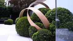 Garden sculpture in corten kunstobject voor in de tuin for Metallfiguren rost