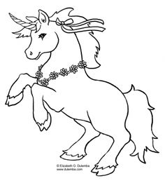 Unicorn Coloring Book Pages