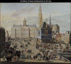 Dam Square, Amsterdam, 1659 - Jacob Van Der Ulft - www.renaissance-in-art.org