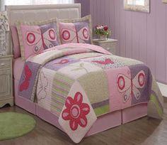 Pink Butterfly Flower Kids Bedding