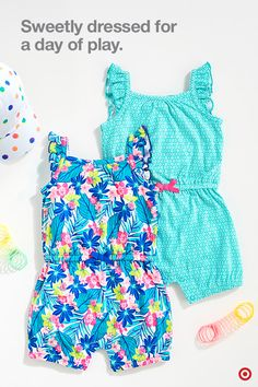 Let your baby girl meet the world in super-cute style. Cherokee has lots of mix-and-match options, including shorts, tees and tanks with fun prints, patterns and ruffle embellishments. Plus sweet one-piece rompers and dresses you'll both love. All are soft and comfy, and over-the-top cool.