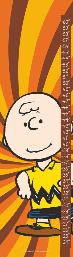 Description: - Peanuts growth chart featuring Charlie Brown - Durable art print on high-quality canvas - Grommets placed in the corners to make hanging easy - Includes a certificate of authenticity -