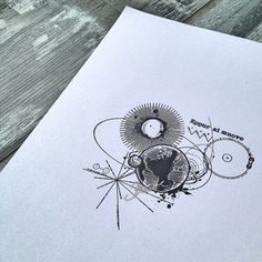 Geometric astronomy tattoo designwww.skinque.com