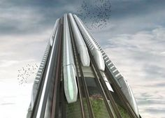 Honorable Mention. Hyper-Speed Vertical Train Hub. Christopher Christophi, Lucas Mazarrasa. (United Kingdom)
