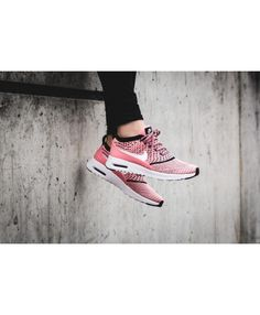 official photos 48247 ab78a Air Max Thea Ultra Flyknit Bright Melon Black White Shoes