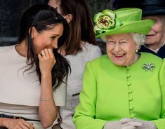 Queen Elizabeth II and Meghan Markle visit Cheshire on their first official Royal engagement together on June 14, 2018.
