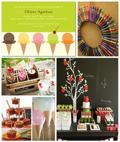 Back to School Ice Cream Social Inspiration Board