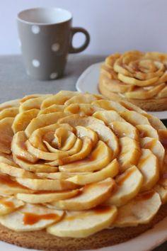 Sablé aux pommes, à la vanille et au caramel au beurre salé