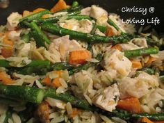 Sweet Potato, Asparagus, and Chicken Orzo, dinner recipe healthy