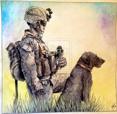 A Marine and His Dog by Silverider on DeviantArt