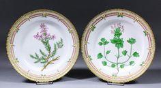 A pair of early 20th Century Royal Copenhagen porcelain