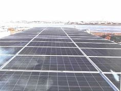 Buildings at the Boston Marine Industrial Park are being equipped with roof-top solar panels. #greenovate