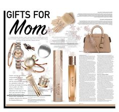 """""""Holiday Gifts for Mom"""" by krischigo ❤ liked on Polyvore featuring ASOS, Ted Baker, Burberry, Michael Kors, Estée Lauder and holidaygiftformom"""