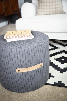 20 Best Diy Pouf Images Diy Pouf Floor Pouf Diy Ottoman