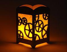 Steampunk Gear Light Box Home Decor Design with by eyegrinddesign