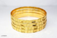 Bangles & Bracelets Radha exclusieve 1 GM Gold women brass bangles Base Metal: Alloy Plating: Gold Plated Sizing: Non-Adjustable Multipack: 1 Sizes: Country of Origin: India Sizes Available: 2.4, 2.6, 2.8, 2.2 *Proof of Safe Delivery! Click to know on Safety Standards of Delivery Partners- https://ltl.sh/y_nZrAV3  Catalog Rating: ★4 (12914)  Catalog Name: Princess Elegant Bracelet & Bangles CatalogID_1084951 C77-SC1094 Code: 022-6798871-