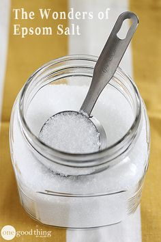 """Epsom salt is more than just for bathing in! This inexpensive """"salt of the earth"""" has a myriad of home and beauty uses too!"""