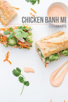 Weeknight Meals via @CookSmarts: Chicken Banh Mi #recipe