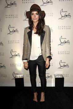 Abigail Spencer #style #hollywood #celebrity #fashion #jacket #hat