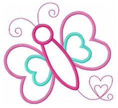Butterfly love applique machine embroidery design by FunStitch, $4.00