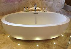 perfect spa bathroom lighting - Adoni luxury small bath