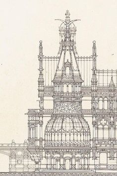 ✽   otto schmalz (german)  -  design for a royal summer residence  -     1886
