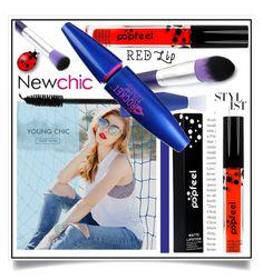 Newchic - Red Lip XI/2 by ewa-naukowicz-wojcik on Polyvore featuring uroda