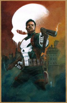 The Punisher - Garrie Gastonny comic art Comic Book Characters, Comic Book Heroes, Marvel Characters, Comic Character, Comic Books Art, Punisher Characters, Character Design, The Punisher, Punisher Skull