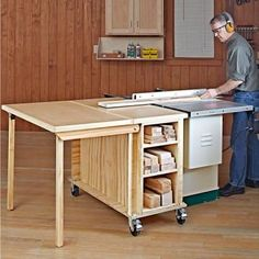 This easy-to-build mobile tool stand packs a shop full of convenience in a small package. With a footprint of less than 7 square feet when folded, this tool stand expands into a massive 17-square-foot tablesaw work surface. And it's multi-talented—to switch to a router table simply slide out the on-board router drawer. While we show this mobile base with a Bosch GTS1031 bencthtop tablesaw, the base was designed to fit many similarly sized tablesaws. Before building the station, measure yo...