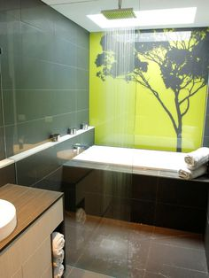 Green Bathroom For Eco Friendly Idea