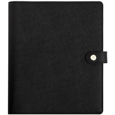 TEXTURED LEATHER PERSONAL PLANNER LARGE BLACK (325 PLN) ❤ liked on Polyvore featuring home, home decor, fillers, fillers - black, black home decor, black white home decor and black and white home decor