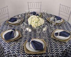 Whats New at Party Rental Ltd. -  Bentley Cobalt Linen