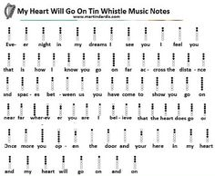 My Heart Will Go On - Tin Whistle Sheet Music