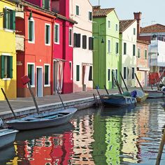 Burano, Venice, Italy: Traditionally, every house was painted a different color to signify the borders of that building's property. There are no house numbers.