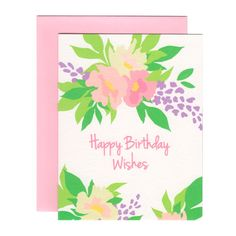 PEONY HAPPY BIRTHDAY WISHES greeting card